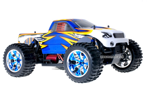 Himoto Brushless Truck Blue Leopard 2.4GHz AANBIEDING!